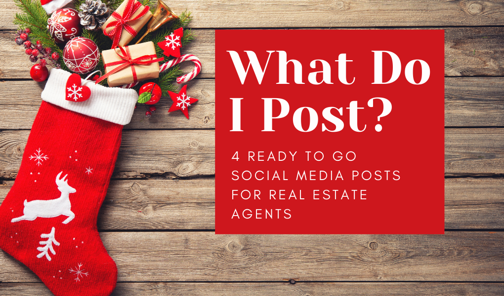December Social Media Content for Real Estate Agents