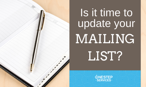 Is It Time To Update Your Mailing List?