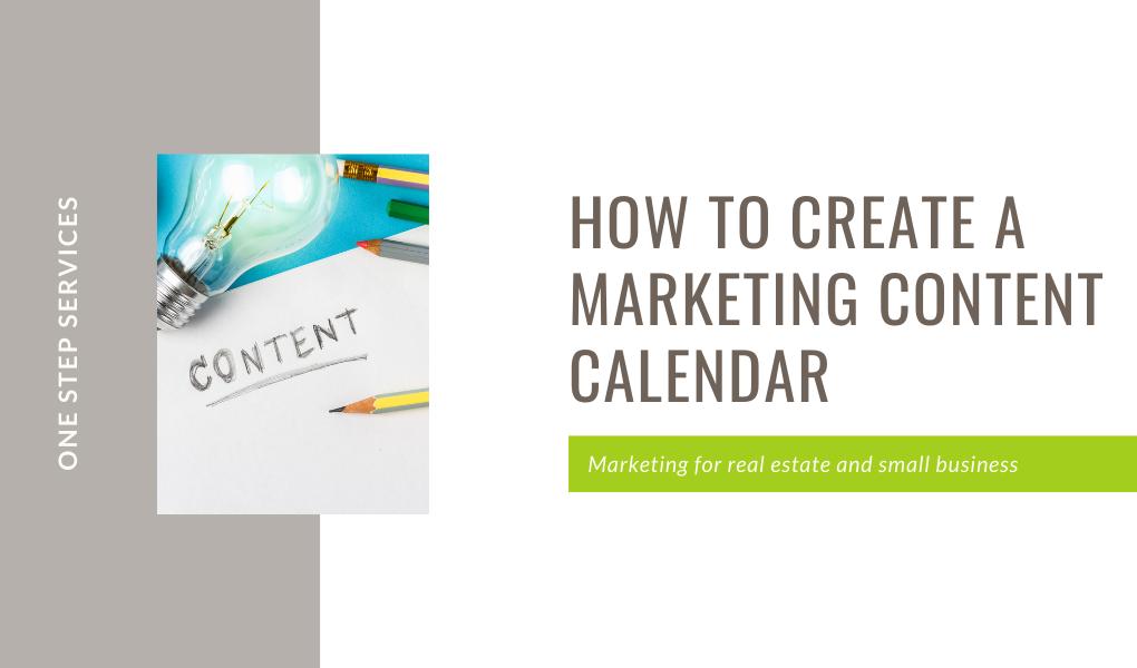 how to create a marketing content calendar