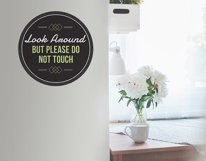 wall decal signs